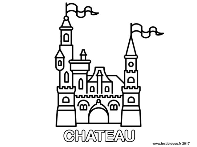 Coloriage Image Chateau.Les Tibidous Site Pour Enfants Coloriages A Imprimer Pour
