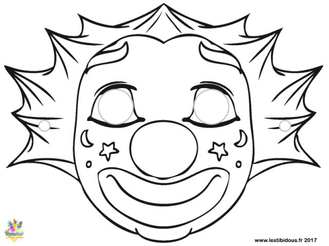 Coloriage Masque Clown.Les Tibidous Site Pour Enfants Coloriages A Imprimer Pour Les