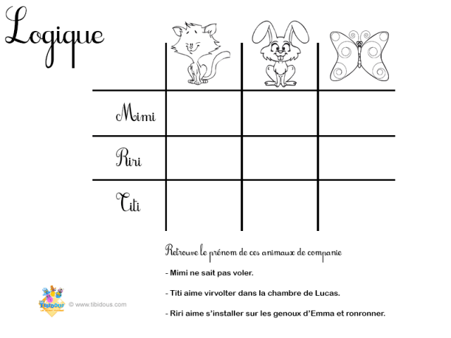 Grande Section : Logique