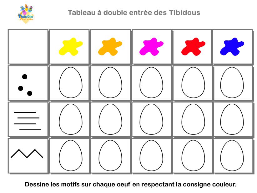 Les Tibidous Site Pour Enfants Exercices A Imprimer Sur Le Tri Dans Un Tableau Niveau Moyenne Section De Maternelle Les Tibidous Moyenne Section Tableau